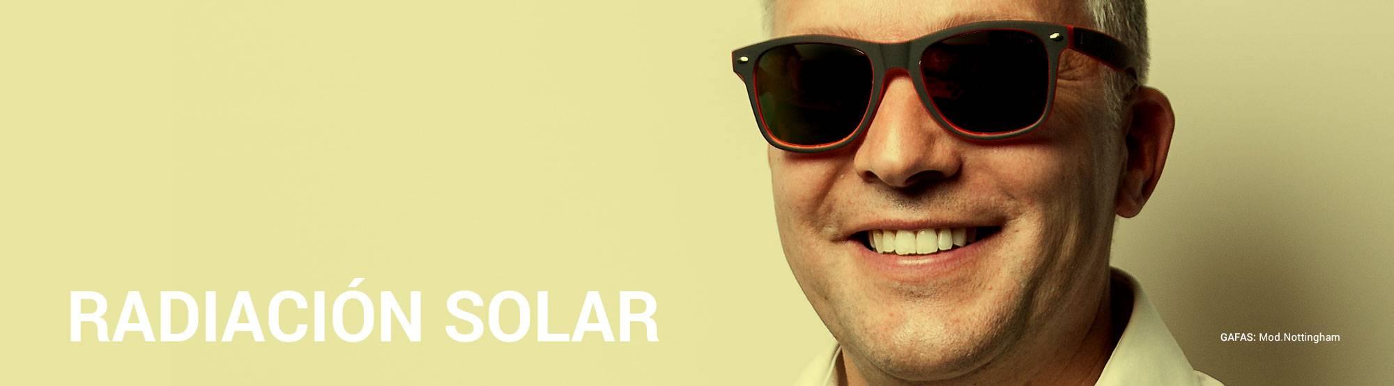radiación solar gafas sol proteger
